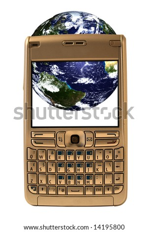 Global telecommunications - stock photo