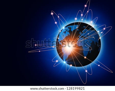 Global traffic and communications backgrounds for your design - stock photo