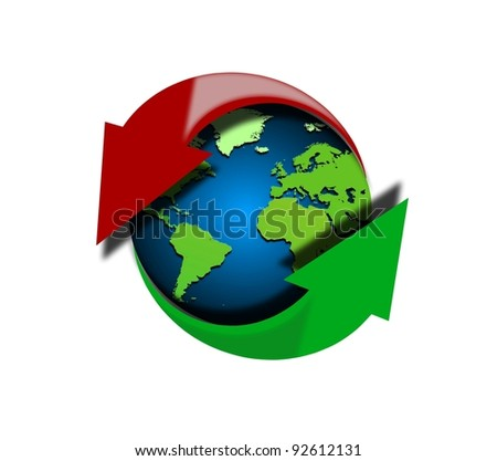 Global upload and download - stock photo
