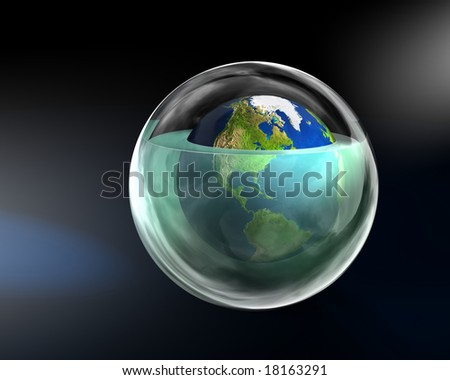 Global warming - America - stock photo