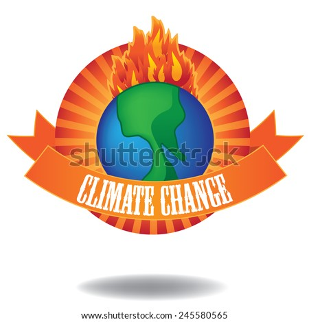 Global warming climate change  icon stock illustration