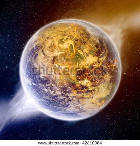 Global warming effect on earth