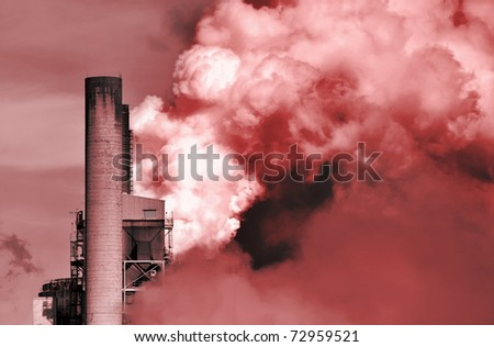 global warming from carbon dioxide - stock photo