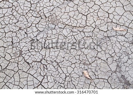 Global warming or heating the world of drought,Ground dehydrated Deforestation - stock photo
