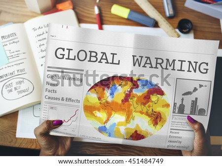 Global Warming Pollution Greenhouse Effect Concept - stock photo