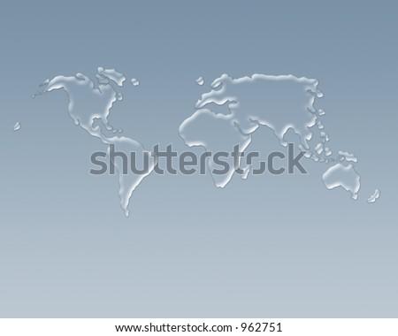 Global water - stock photo