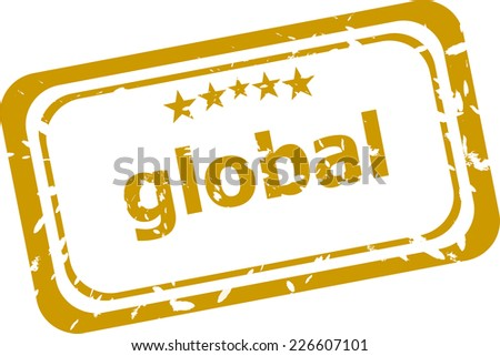 global word grunge stamp isolated on white - stock photo