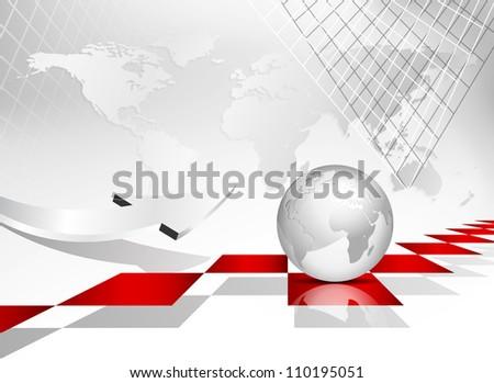 Global world map background globe - stock photo