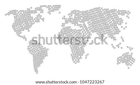 Global world map mosaic constructed alarm stock illustration global world map mosaic constructed of alarm clock design elements raster alarm clock design elements gumiabroncs Image collections