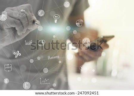 Globalization business concept. - stock photo