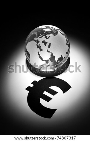 Globe and Euro Sign, concept of Global Business