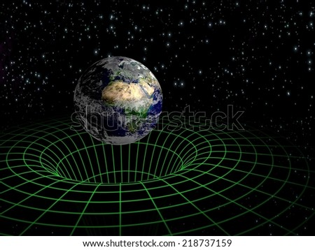 Globe and space. Elements of this image are furnished by NASA - stock photo