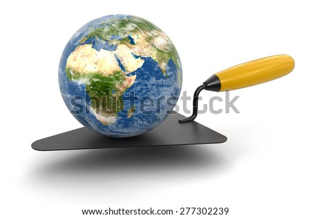 Globe and Trowel Elements of this image furnished by NASA