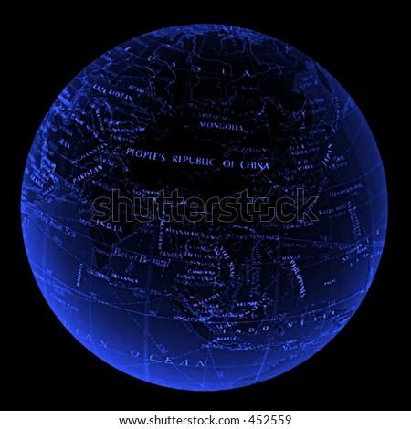 globe - asia - stock photo