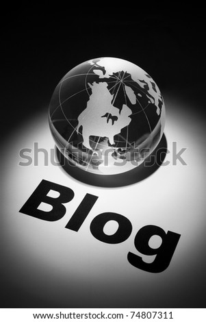 globe, concept of Blog