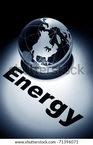 globe, concept of Global Energy short - stock photo