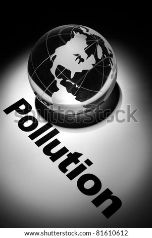 globe, concept of global Pollution