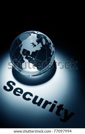 globe, concept of Global Security - stock photo