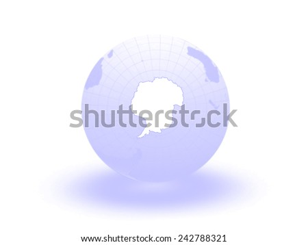 Globe. 3d. Antarctica. Elements of this image furnished by NASA