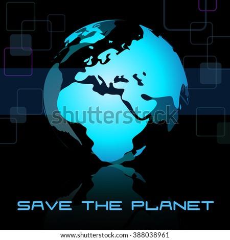 Globe Earth isolated on the black background illustration. - stock photo