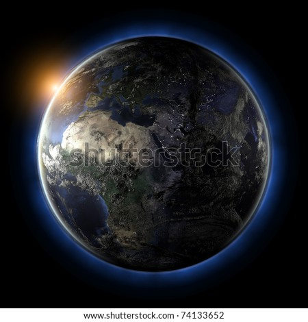 Globe. Earth map from NASA