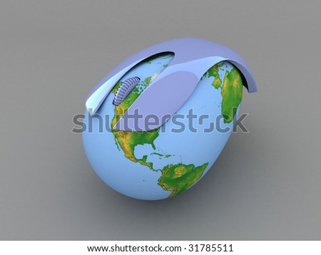Globe Earth Online - stock photo