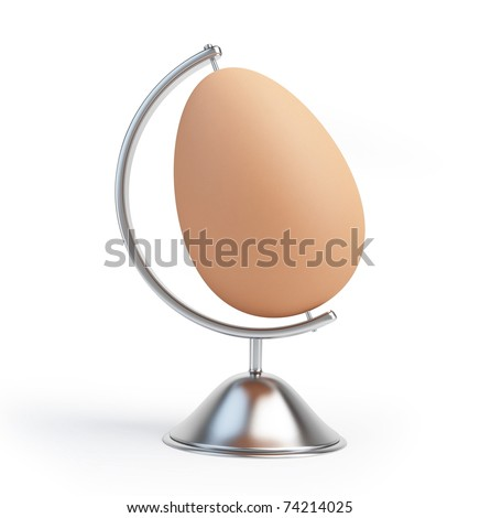globe egg sign isolated on a white background