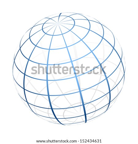 Globe icon - stock photo