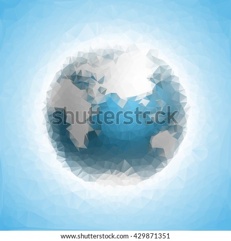 Globe icon Triangulation map continents world globe icon map continents world globe icon map continents world globe icon map continents world globe icon map continents world globe icon map continents - stock photo