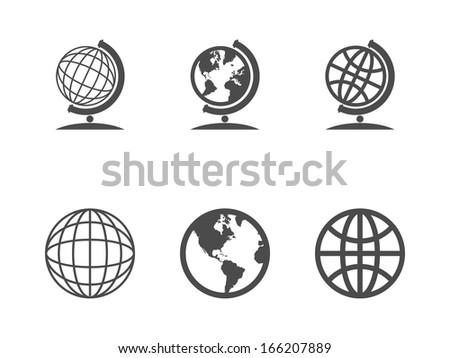 Globe icons.  - stock photo