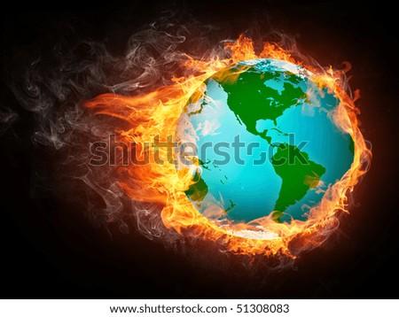 Globe Fire Computer Graphics Stock Illustration 51308083 ...