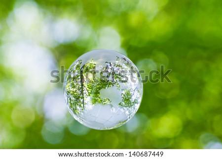 Globe in the hand - stock photo