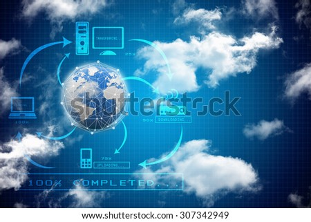globe internet connecting - stock photo