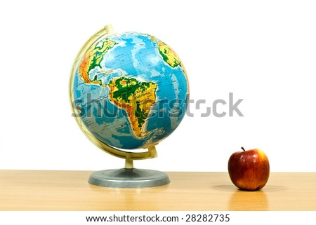 globe is in space - stock photo