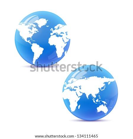 globe isolated - stock photo