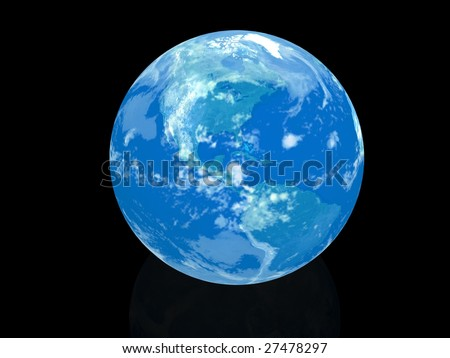 globe isolated on black background - stock photo