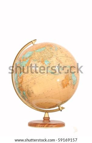Globe isolated on white - stock photo