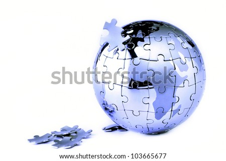 Globe isolated on white background