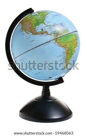 Globe isolated over a white background - stock photo