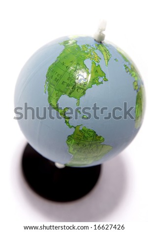 Globe isolated over white background