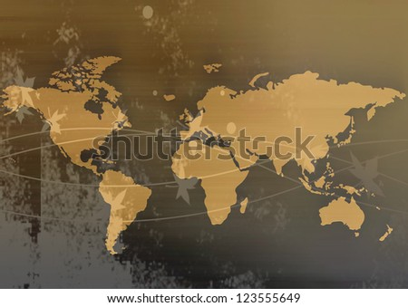 Globe issues in gold - stock photo