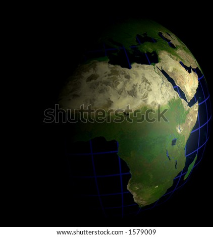 Globe Natural Color Africa Focus on Black  for matching Alpha Image Search for Alpha 4783