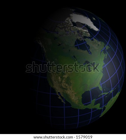 Globe Natural Color North America Focus on Black for matching Alpha Image Search for Alpha 4780
