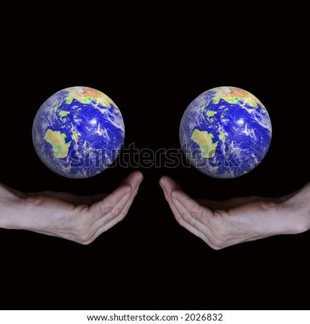 globe of business - stock photo