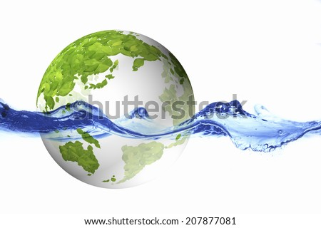 Globe Of Leaf And Water Surface