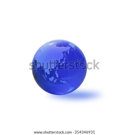 Globe of the World.Asia