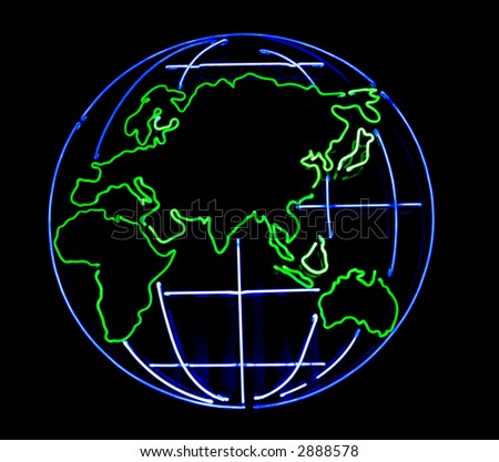 Globe on a black background - stock photo