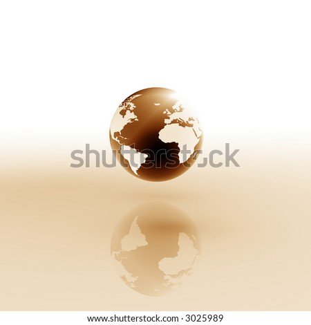 Globe on abstract background. - stock photo