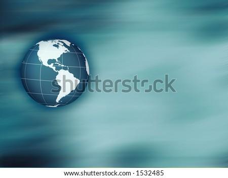 globe on soft background - stock photo