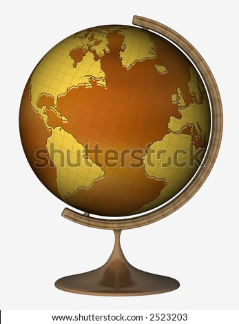 Globe  on the white background - stock photo